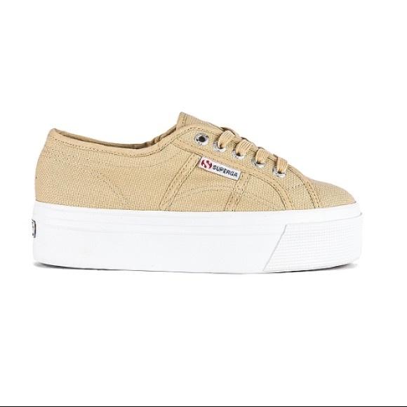 Superga Shoes   Nwt Tan Beige Platform